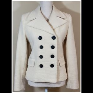 Marvin Richard's Cream Double Breasted Jacket-Sz M